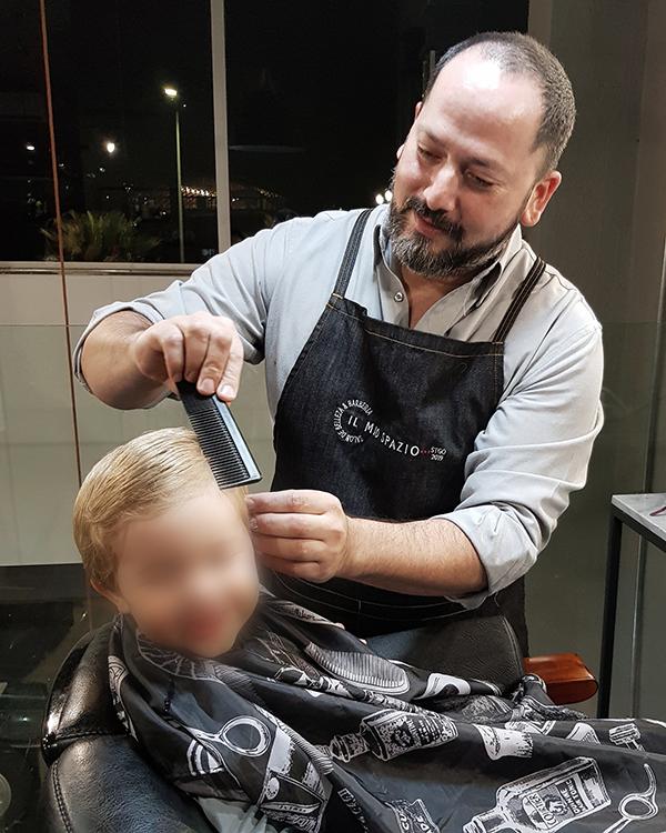 Barbería para niños just for men