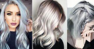cabello color gris plata